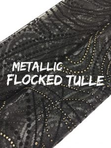 Metallic Flocked Tulle (#2222)